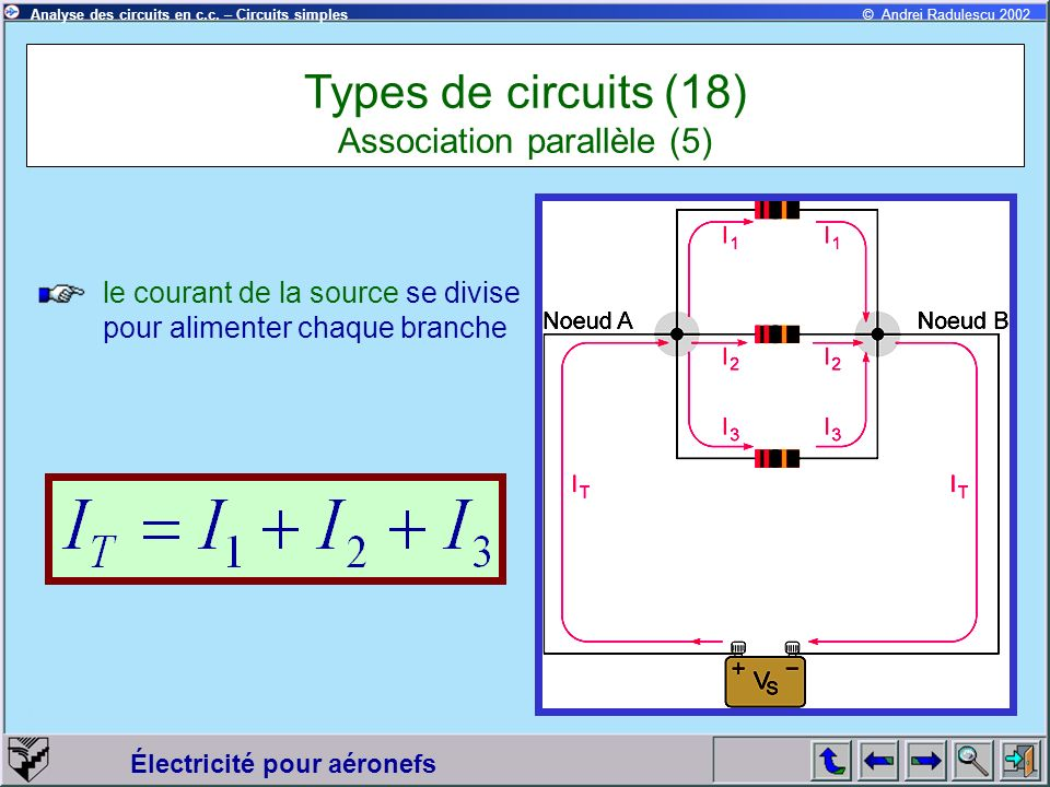 Types de circuits (18) Association parallèle (5)