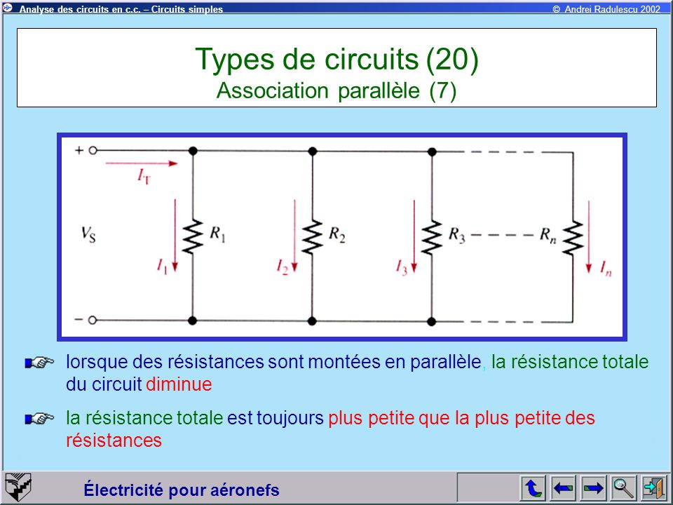 Types de circuits (20) Association parallèle (7)