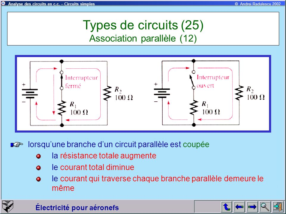 Types de circuits (25) Association parallèle (12)