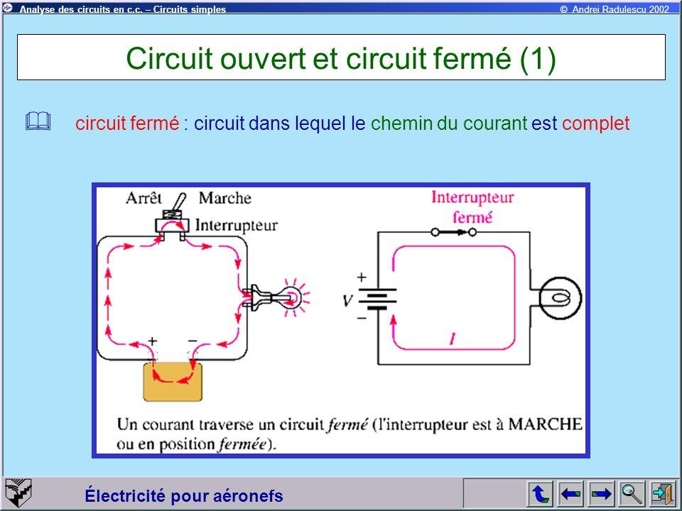 Circuit ouvert et circuit fermé (1)