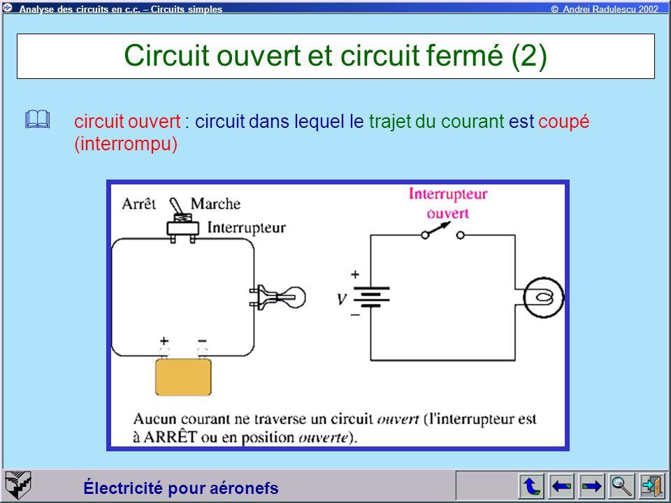 Circuit ouvert et circuit fermé (2)
