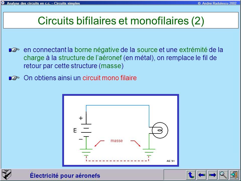 Circuits bifilaires et monofilaires (2)