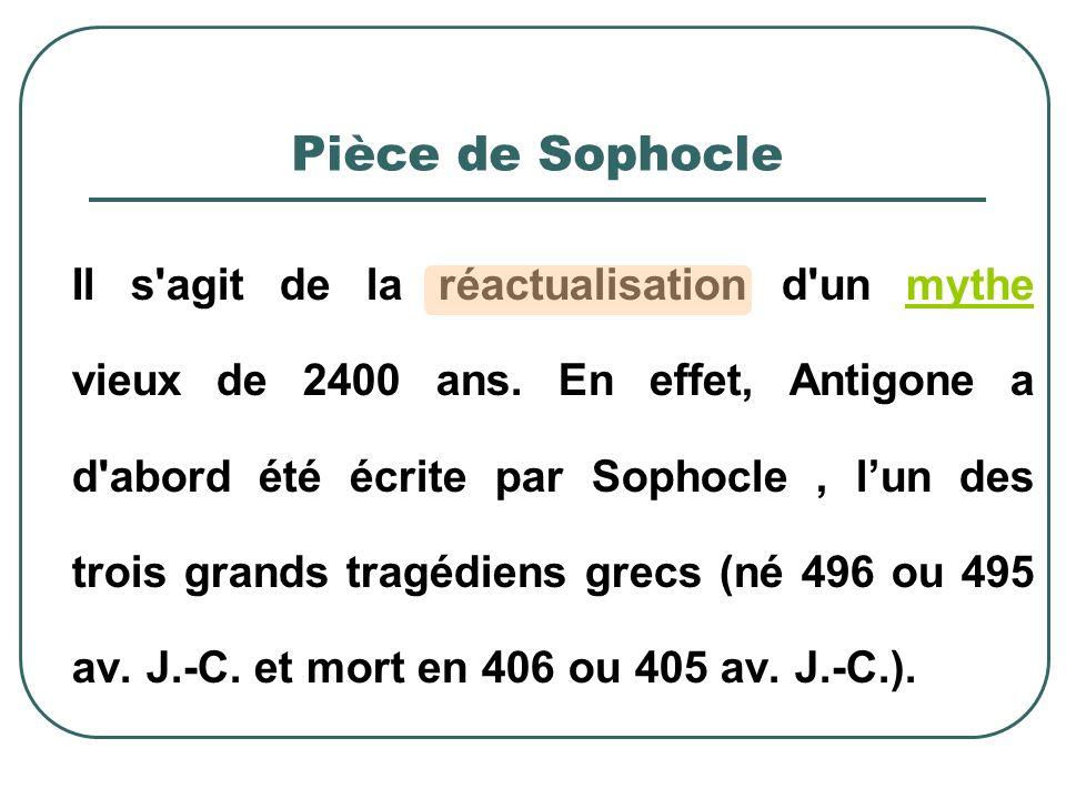 Pièce de Sophocle