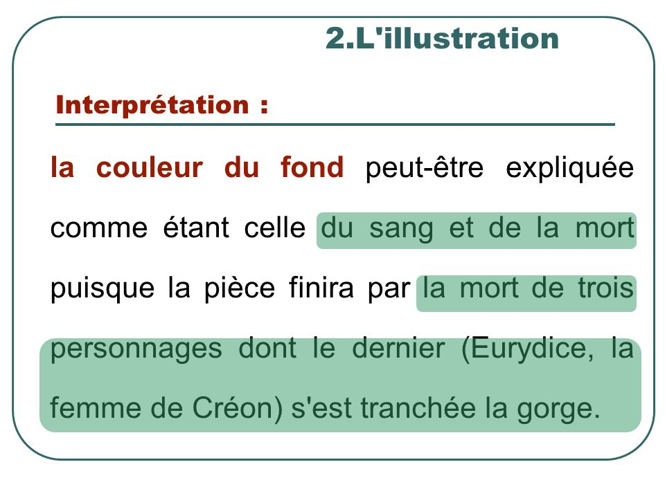 2.L illustration Interprétation :