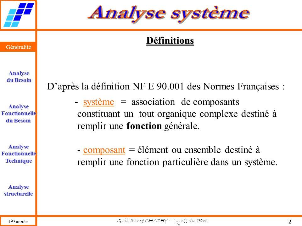 D'après la définition NF E 90.001 des Normes Françaises :