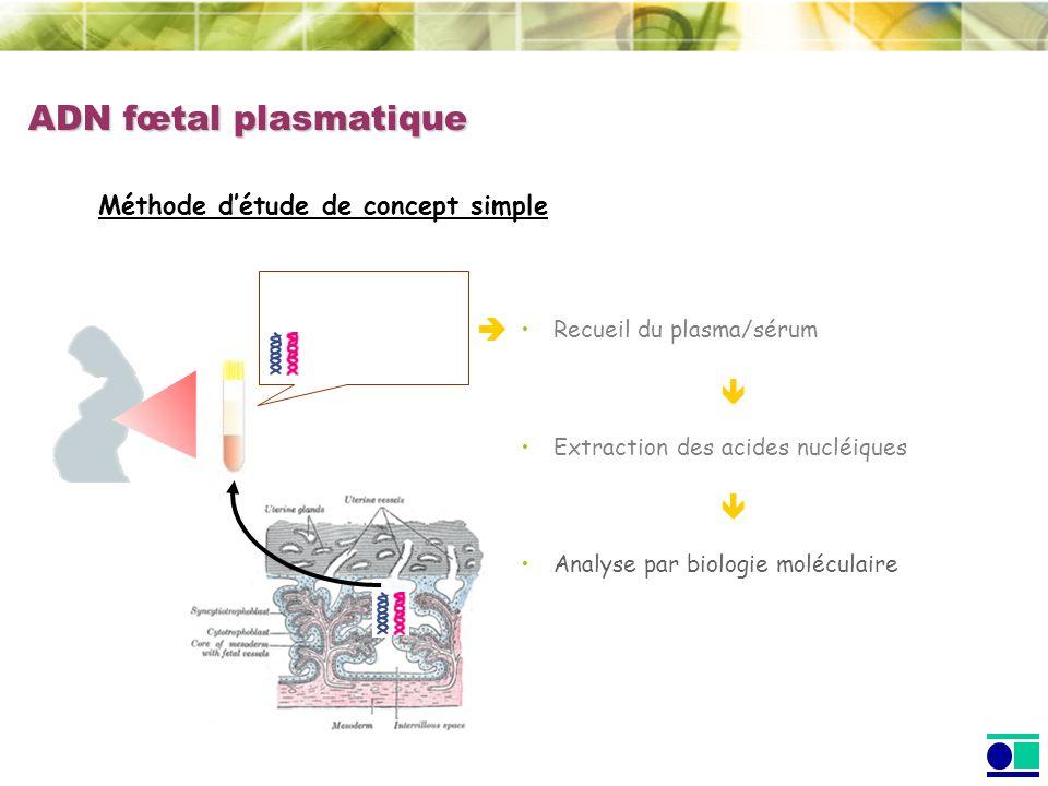 ADN fœtal plasmatique    Méthode d'étude de concept simple