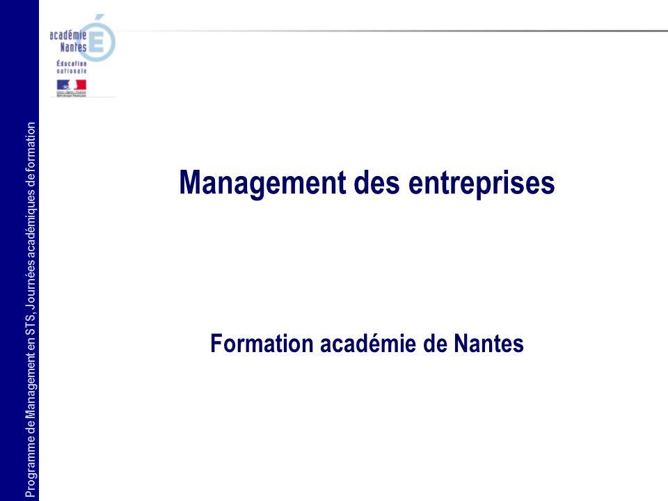 Management des entreprises