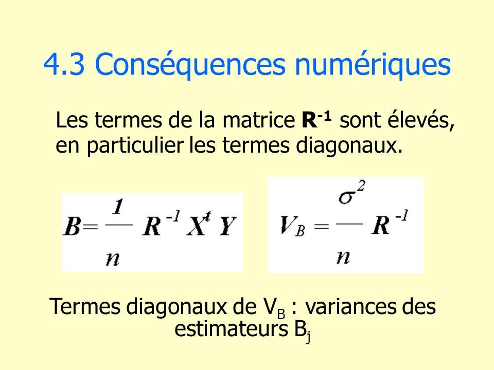 4.3 Conséquences numériques