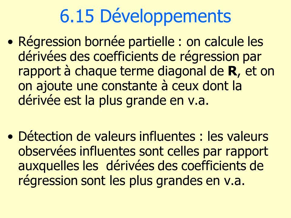 6.15 Développements