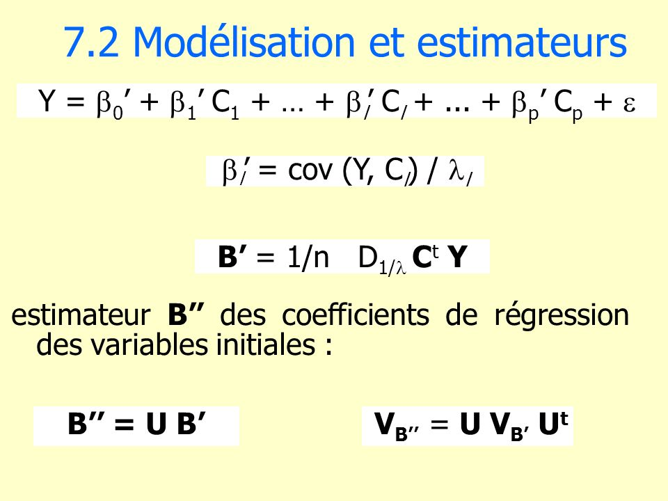 7.2 Modélisation et estimateurs
