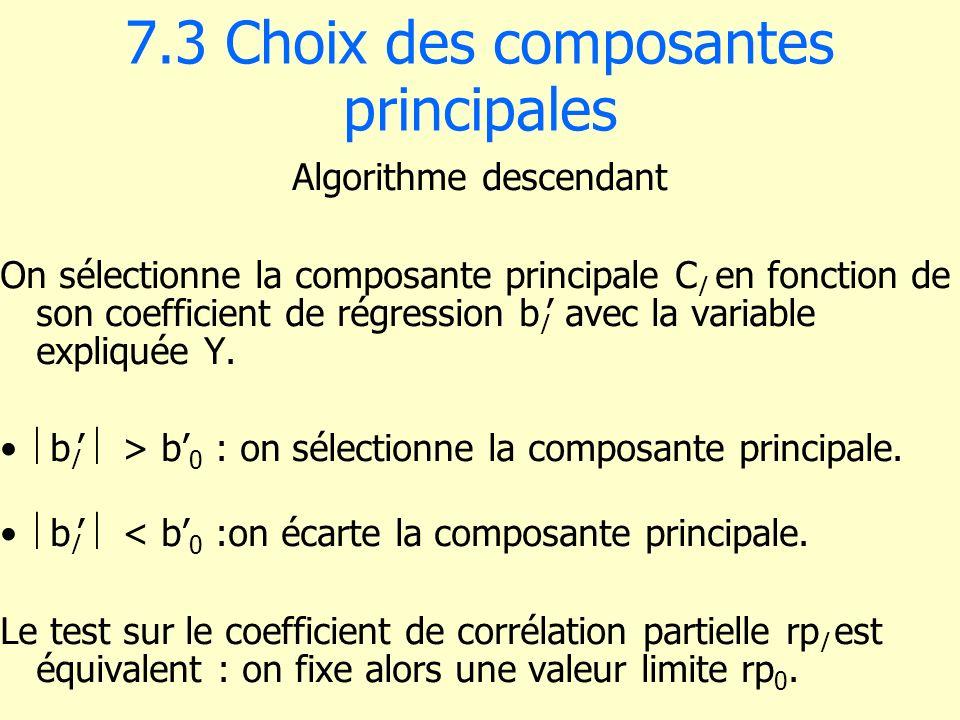 7.3 Choix des composantes principales