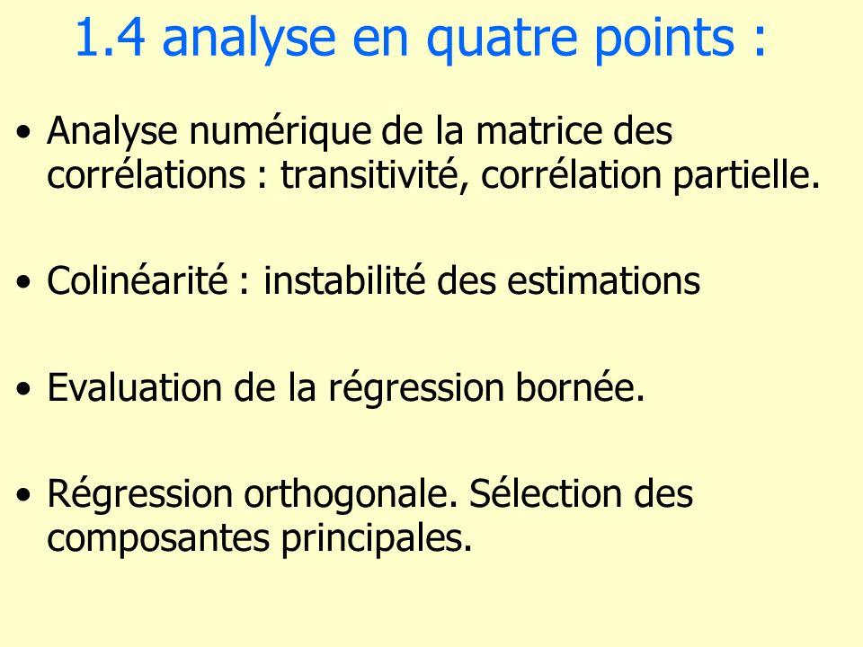1.4 analyse en quatre points :