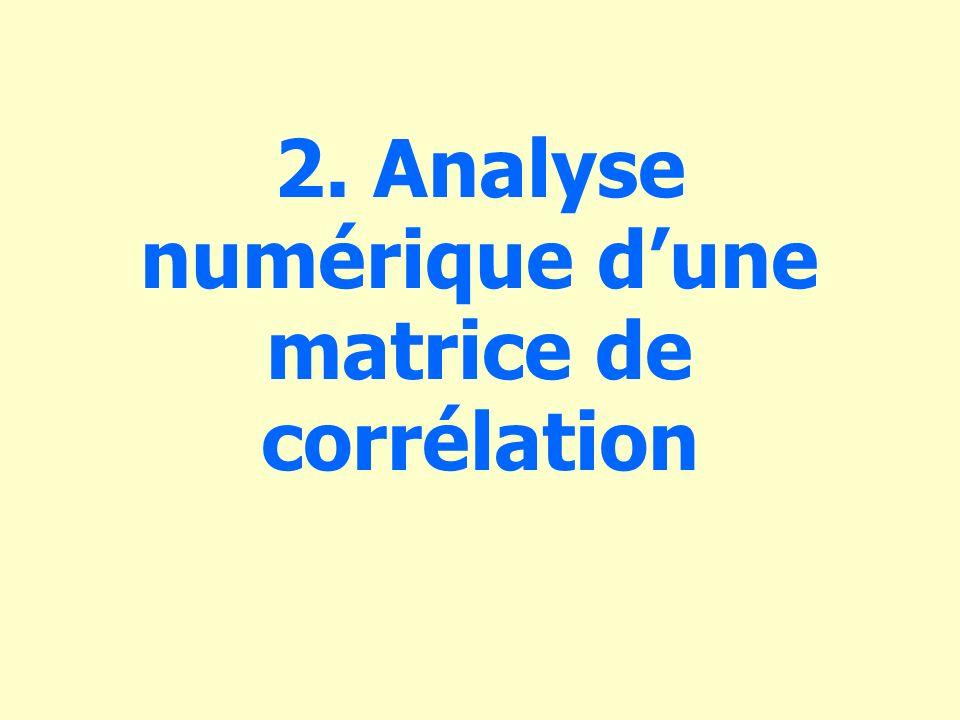 2. Analyse numérique d'une matrice de corrélation