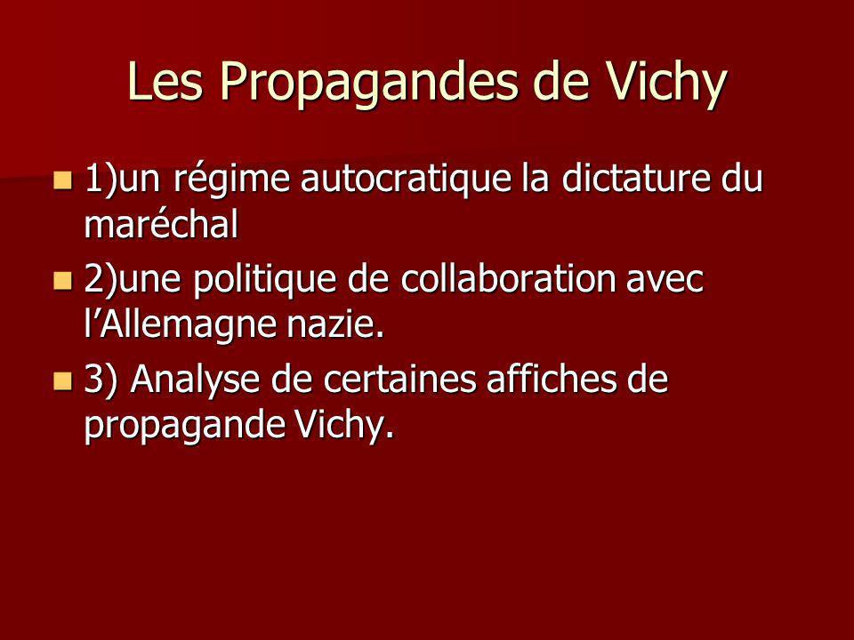 Les Propagandes de Vichy