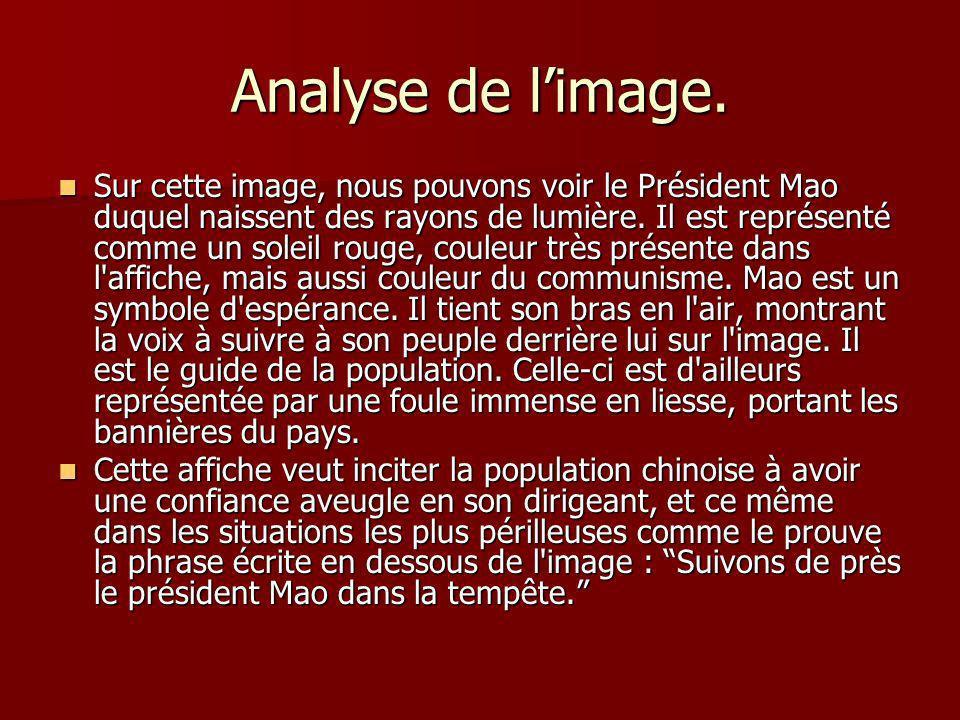 Analyse de l'image.