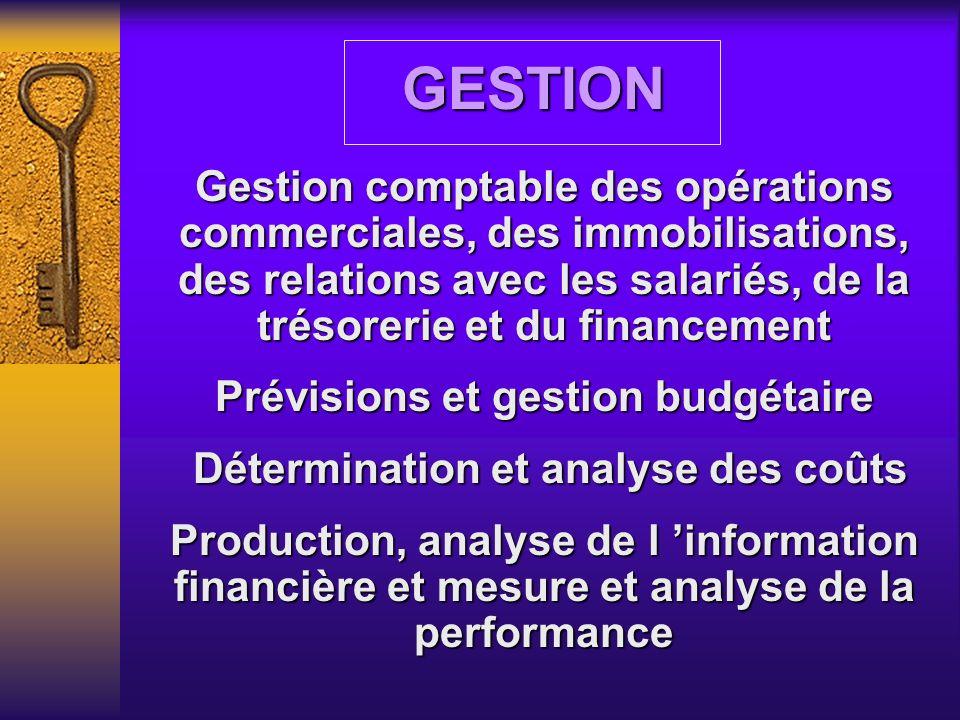 Prévisions et gestion budgétaire Détermination et analyse des coûts
