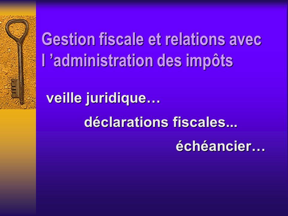 déclarations fiscales...