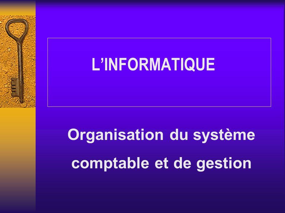Organisation du système comptable et de gestion