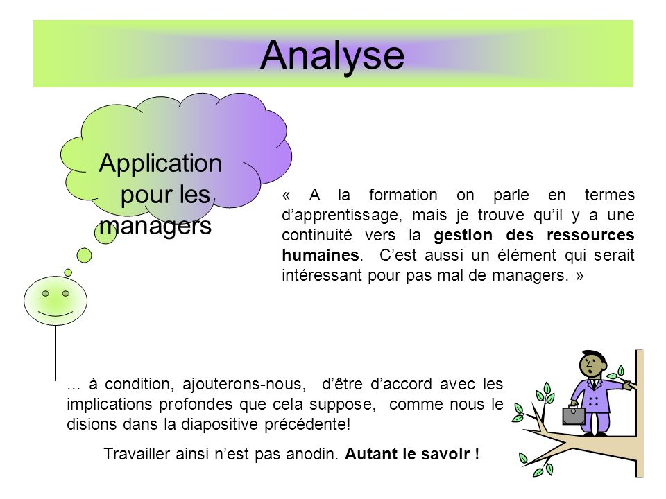 Analyse Application pour les managers