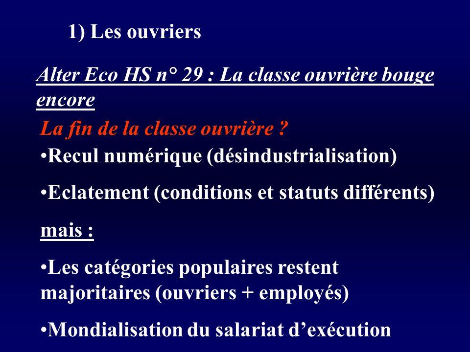 1) Les ouvriers Alter Eco HS n° 29 : La classe ouvrière bouge encore. La fin de la classe ouvrière