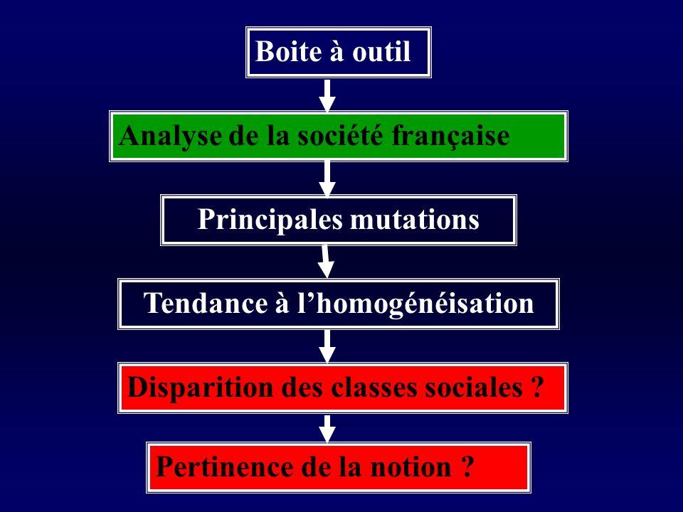 Principales mutations Tendance à l'homogénéisation