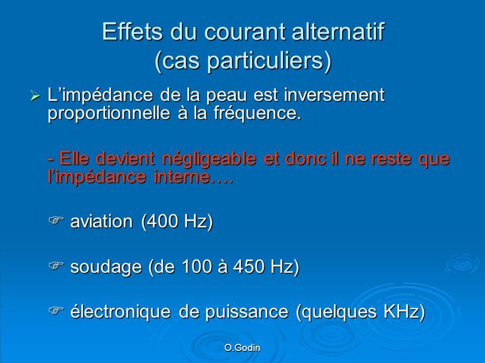 Effets du courant alternatif (cas particuliers)