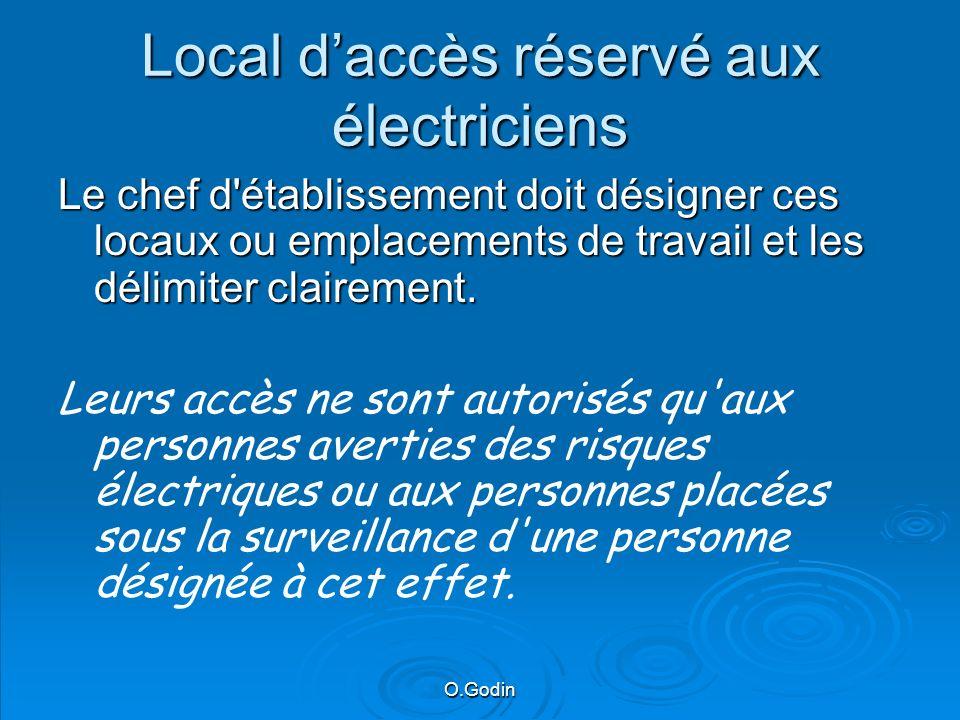 Local d'accès réservé aux électriciens