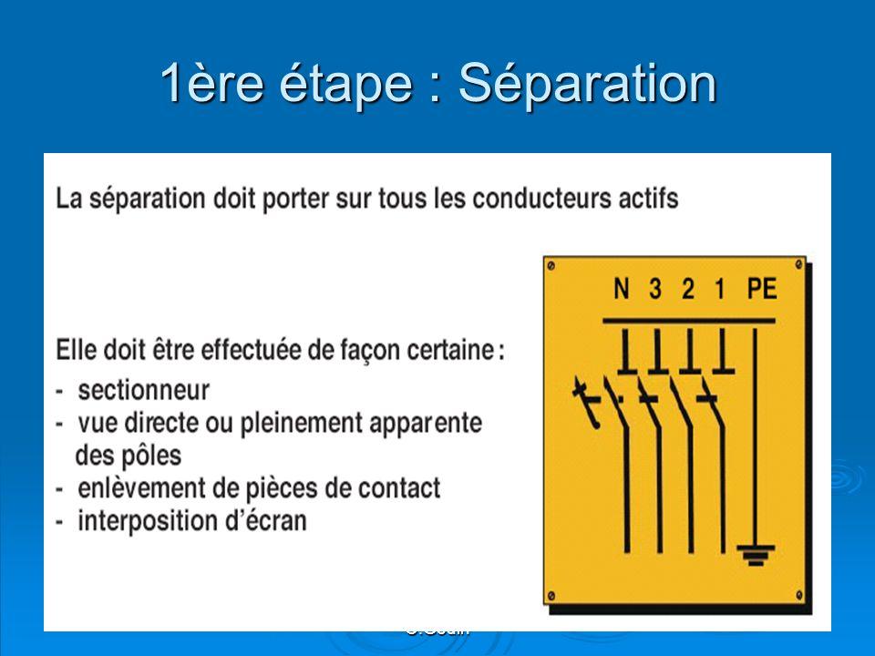 1ère étape : Séparation O.Godin