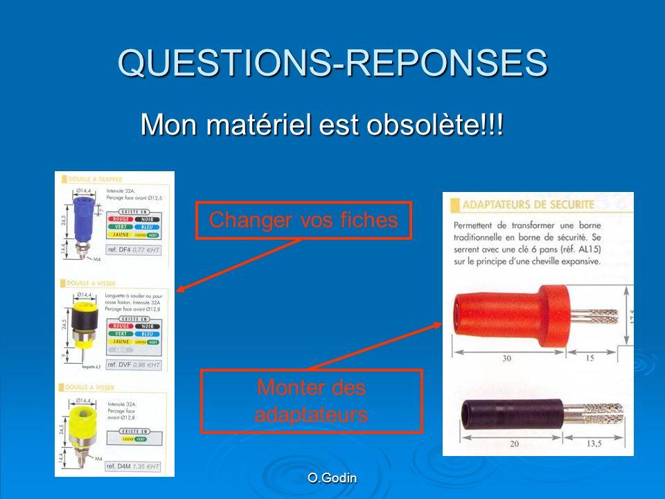 QUESTIONS-REPONSES Mon matériel est obsolète!!! Changer vos fiches