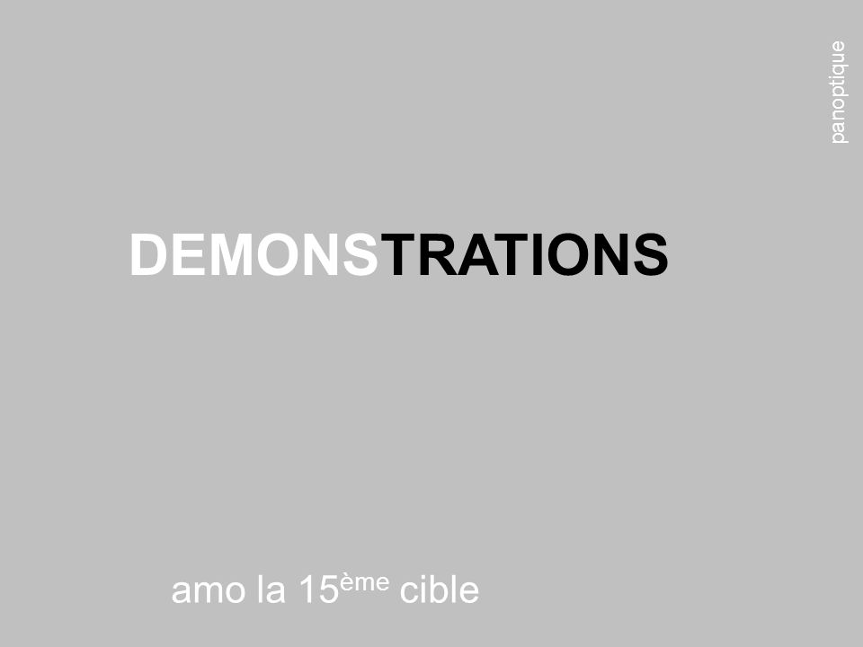 panoptique DEMONSTRATIONS amo la 15ème cible