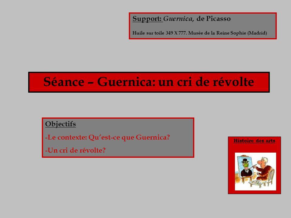 Séance – Guernica: un cri de révolte