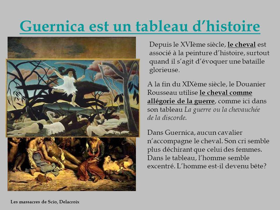 Guernica est un tableau d'histoire
