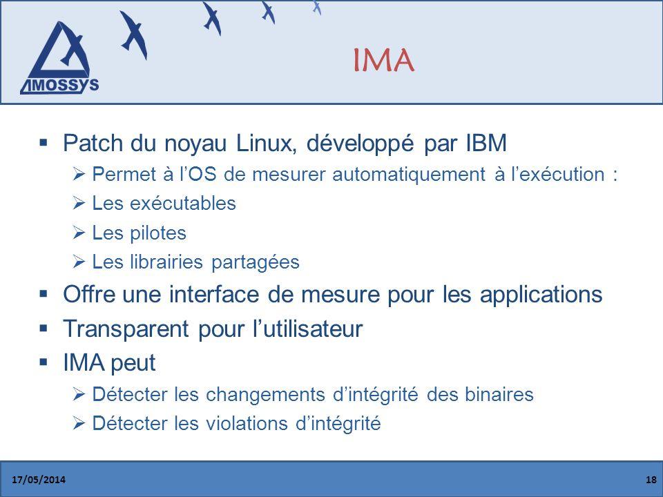 IMA Patch du noyau Linux, développé par IBM