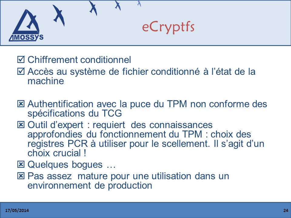 eCryptfs Chiffrement conditionnel
