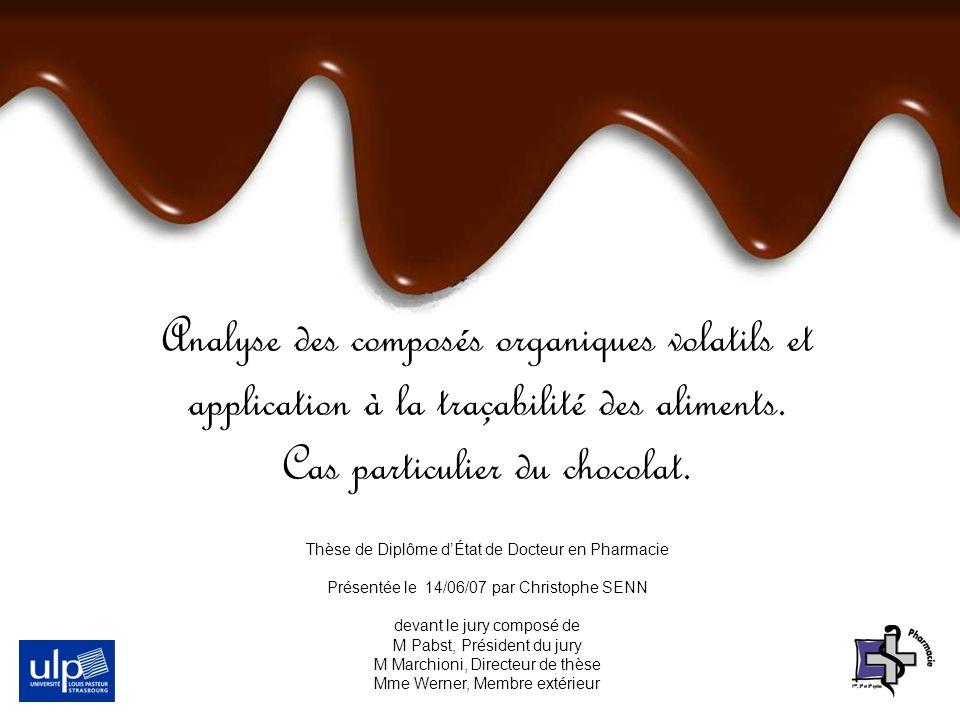 Analyse des composés organiques volatils et application à la traçabilité des aliments. Cas particulier du chocolat.