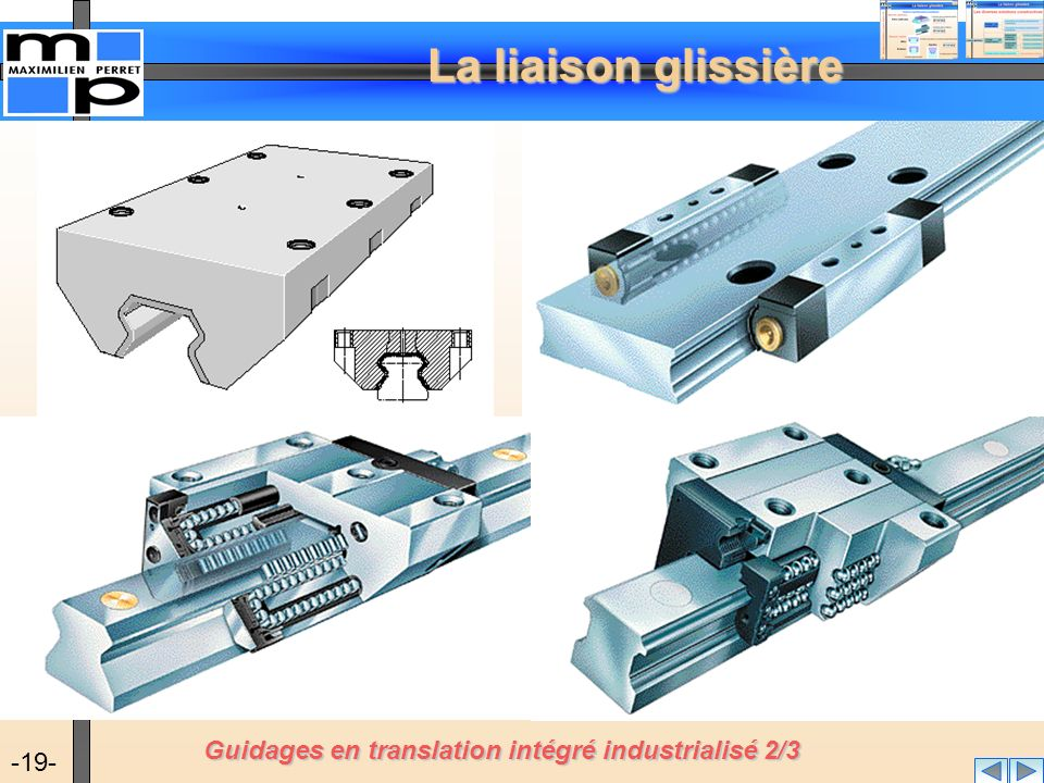Guidages en translation intégré industrialisé 2/3