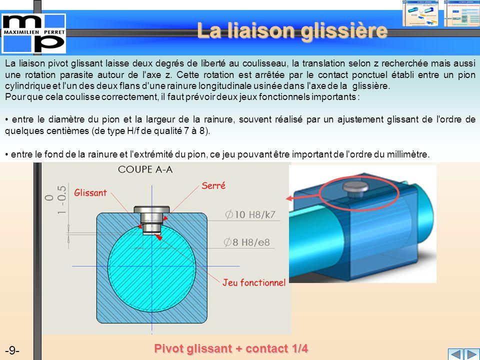Pivot glissant + contact 1/4