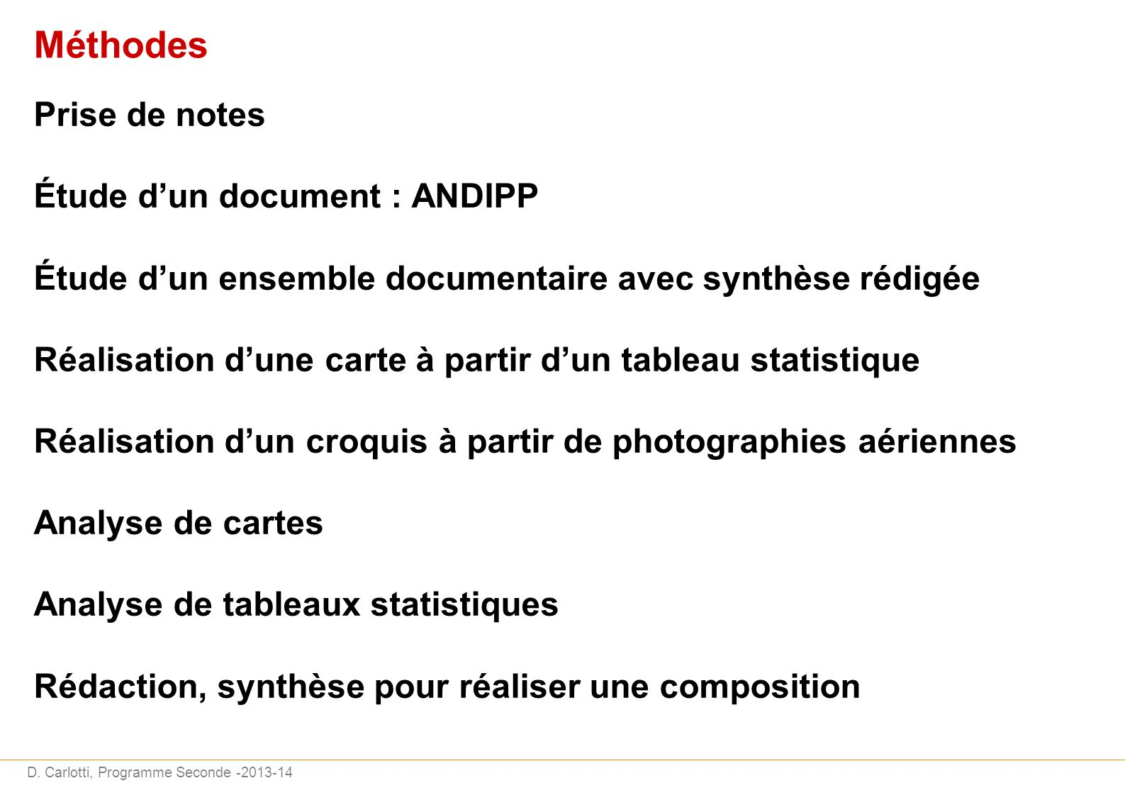 Méthodes Prise de notes Étude d'un document : ANDIPP