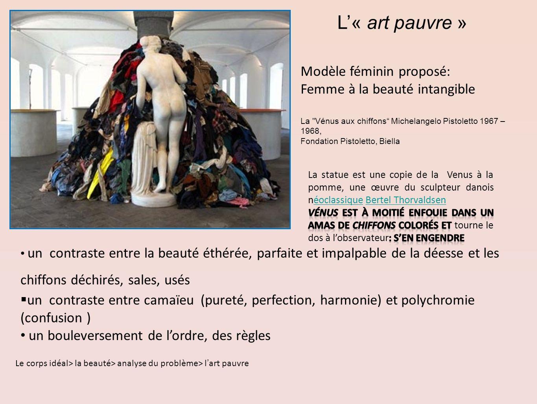 L'« art pauvre » Modèle féminin proposé: Femme à la beauté intangible