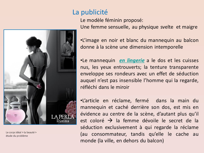 La publicité Le modèle féminin proposé: