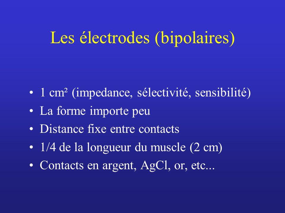Les électrodes (bipolaires)