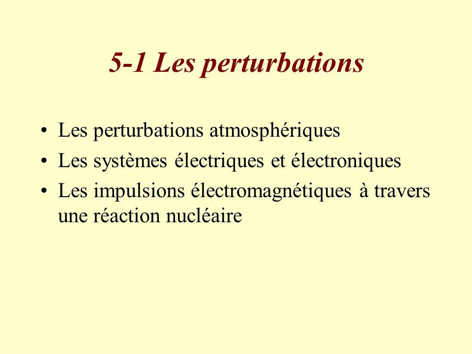 5-1 Les perturbations Les perturbations atmosphériques