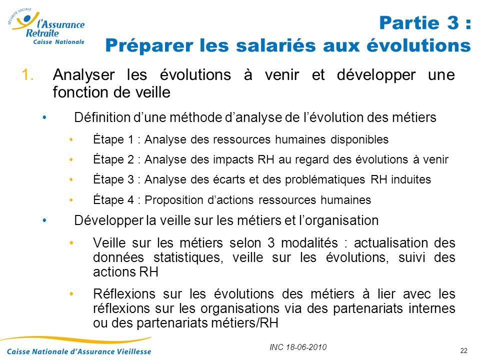 Partie 3 : Préparer les salariés aux évolutions