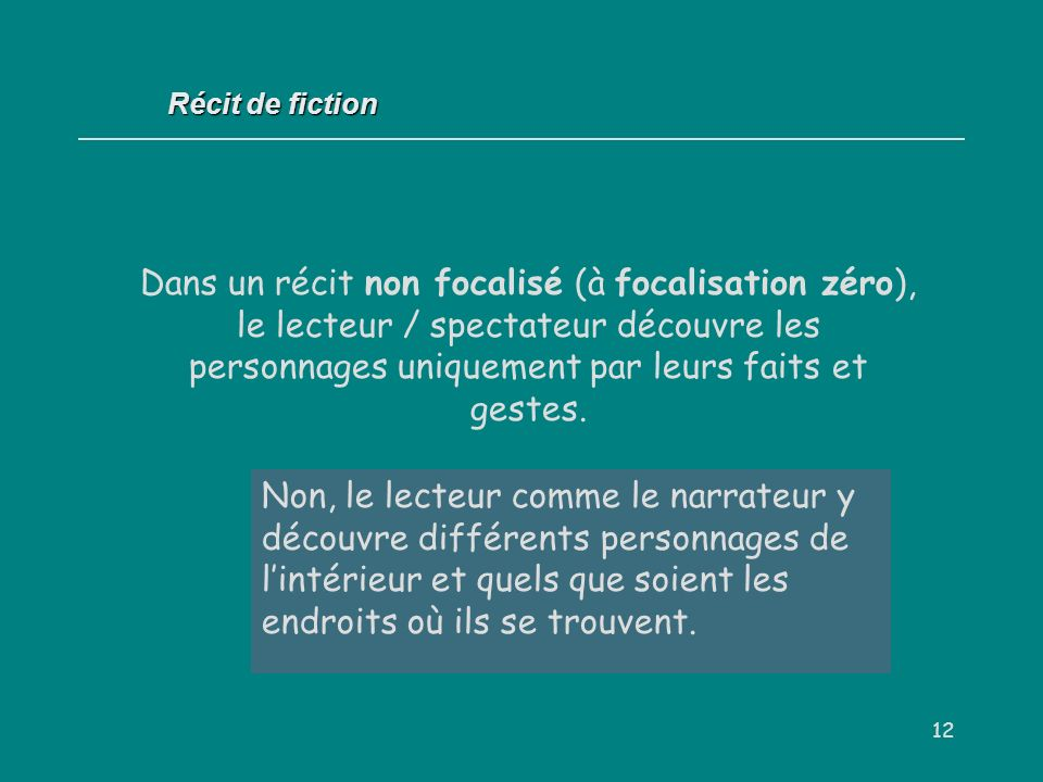 Récit de fiction