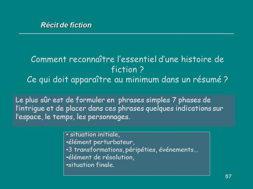 analyse du r u00e9cit de fiction