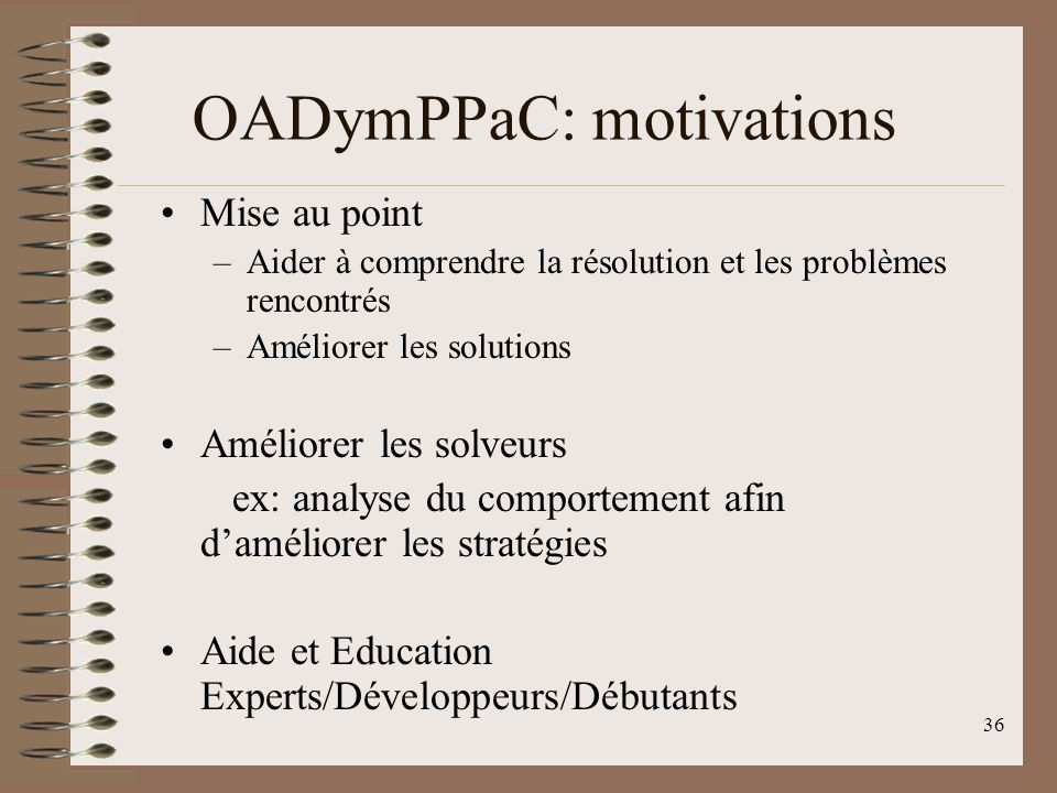 OADymPPaC: motivations