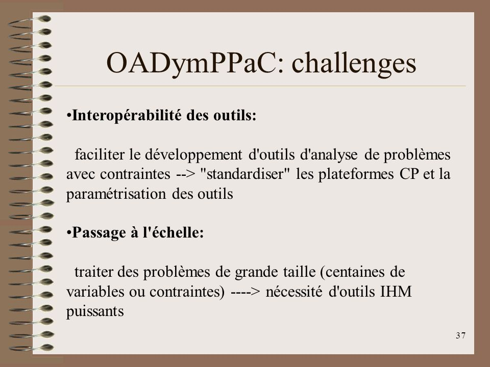 OADymPPaC: challenges