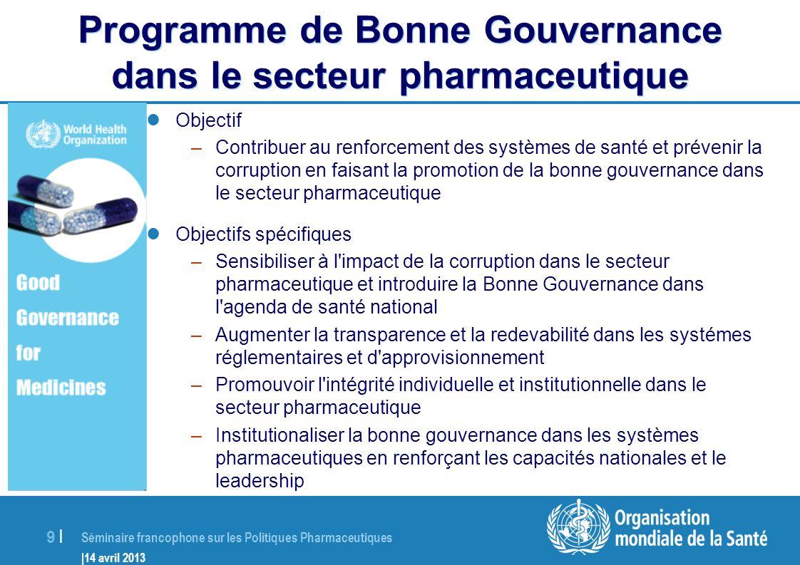 Programme de Bonne Gouvernance dans le secteur pharmaceutique