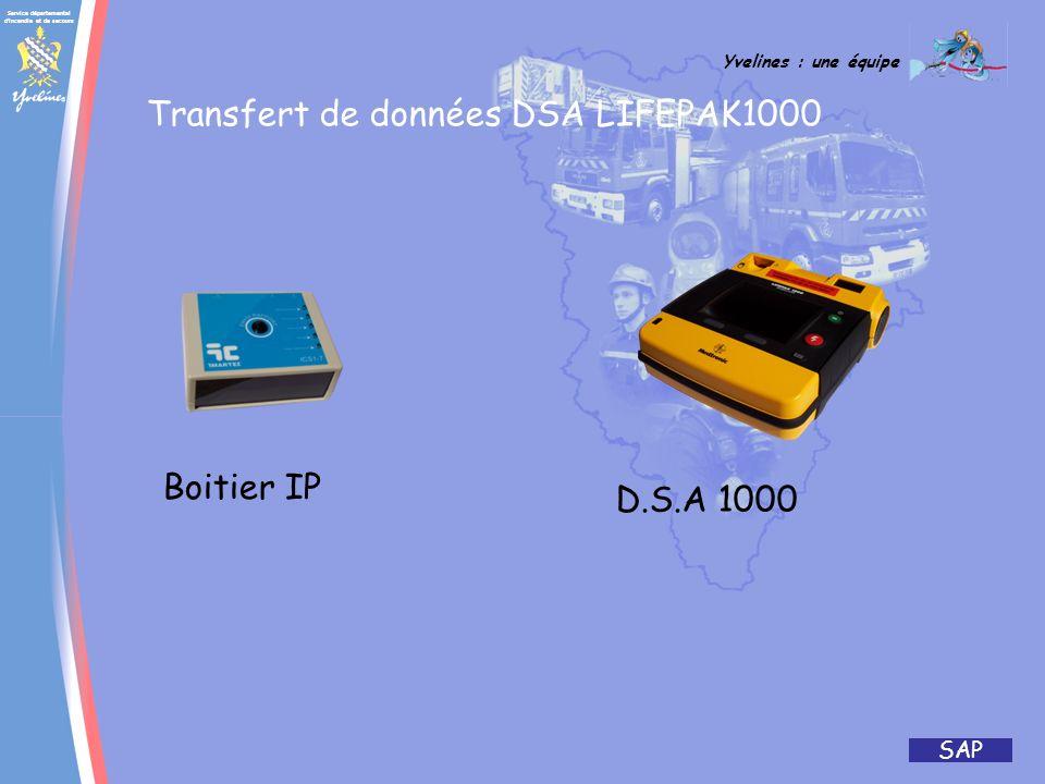 Transfert de données DSA LIFEPAK1000