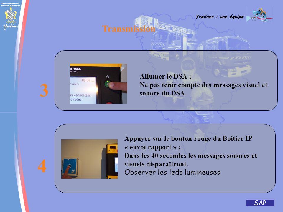 3 4 Transmission Allumer le DSA ;